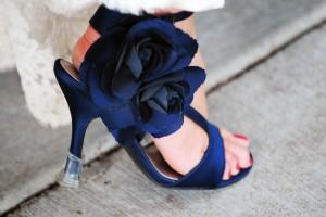 Πρωτότυπα μπλε νυφικά παπούτσια