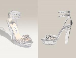 Silver glamorous Νυφικα Παπουτσια