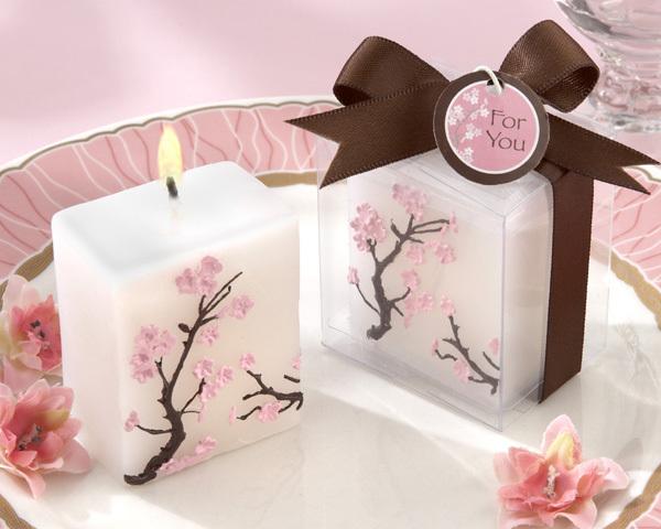 Αναμνηστικό γαμήλιο δώρο κερί