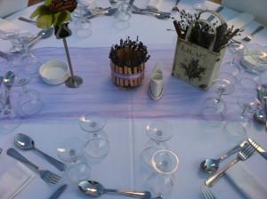 στολισμος γαμου με κανελα και λεβαντα