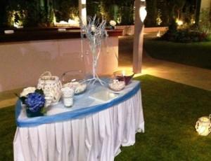 τραπέζι ευχών στο πολιτικο γάμο