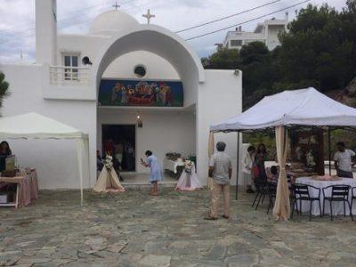 buffet σε εκκλησια σε βαπτιση